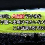 「高校野球」大阪府で子供を甲子園へ出場させたいなら、この強豪3校で決まり!