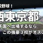 「高校野球」西東京で甲子園へ出場したいなら、この強豪3校へ進学しなさい!そのおすすめ理由も解説