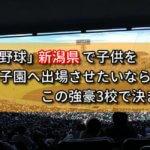 「高校野球」新潟県で子供を甲子園へ出場させたいなら、この強豪3校で決まり!