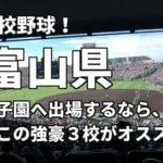 「高校野球」富山県で甲子園へ出場したいなら、この強豪3校へ進学しなさい!そのおすすめ理由も解説