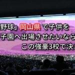「高校野球」岡山県で子供を甲子園へ出場させたいなら、この強豪3校で決まり!