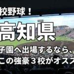 「高校野球」高知県で甲子園へ出場したいなら、この強豪3校へ進学しなさい!そのおすすめ理由も解説