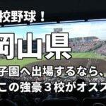 「高校野球」岡山県で甲子園へ出場したいなら、この強豪3校へ進学しなさい!そのおすすめ理由も解説