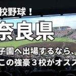 「高校野球」奈良県で甲子園へ出場したいなら、この強豪3校へ進学しなさい!そのおすすめ理由も解説