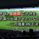 「高校野球」宮崎県で子供を甲子園へ出場させたいなら、この強豪3校で決まり!