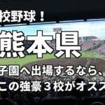 「高校野球」熊本県で甲子園へ出場したいなら、この強豪3校へ進学しなさい!そのおすすめ理由も解説