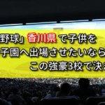 「高校野球」香川県で子供を甲子園へ出場させたいなら、この強豪3校で決まり!