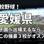 「高校野球」愛媛県で甲子園へ出場したいなら、この強豪3校へ進学しなさい!そのおすすめ理由も解説