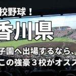 「高校野球」香川県で甲子園へ出場したいなら、この強豪3校へ進学しなさい!そのおすすめ理由も解説
