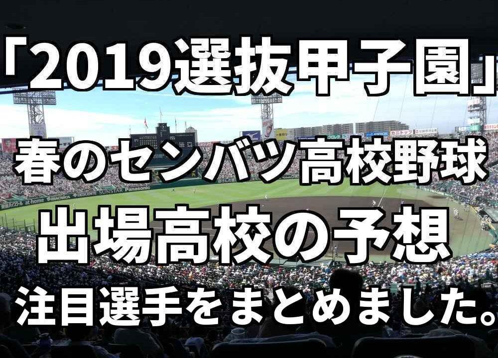 「2019選抜甲子園」春のセンバツ高校野球、出場高校と注目選手 ...