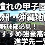 「憧れの甲子園」九州・沖縄地区の野球部必見!おすすめ強豪高校進学先一覧。