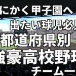 とにかく甲子園へ出場したい球児必見。都道府県別、強豪高校野球チーム一覧
