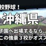 「高校野球」沖縄県で甲子園へ出場したいなら、この強豪3校へ進学しなさい!そのおすすめ理由も解説