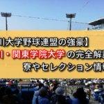 【神奈川大学野球連盟の強豪】神奈川・関東学院大学の完全解説!寮やセレクション情報など