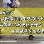 「令和元年」高校野球2019年夏の甲子園/山梨県の出場校予想と注目選手を徹底解説